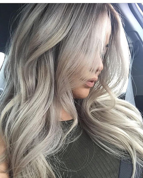 #18/613 - COOL LIGHT BLONDE / DARK ASH BLONDE FOILED - ULTIMATE RUSSIAN GRADE CLIP IN HAIR - Pure Tape Hair Extensions
