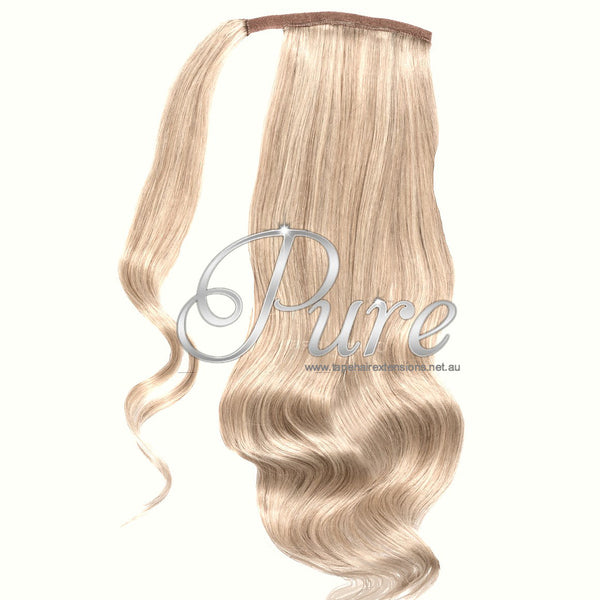 WRAP PONYTAIL HAIR EXTENSION #22  - CHAMPAIGN BLONDE - MEDIUM WARM BLONDE - Pure Tape Hair Extensions