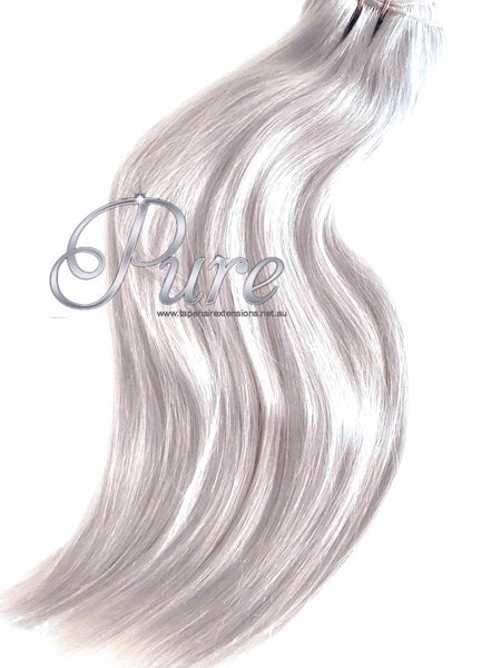 #ICY BLONDE WHITE BLONDE LIGHTEST BLONDE WEFT WEAVE - Pure Tape Hair Extensions
