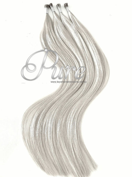 #ICE WHITE BLONDE MICROBEAD HAIR EXTENSIONS