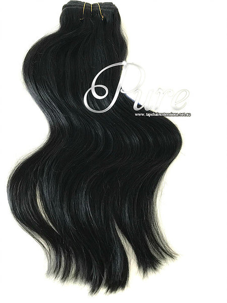 #1 - EBONY - JET BLACK -200 GRAMS - ULTIMATE CLIP-IN- LUXURY SUPER THICK - Pure Tape Hair Extensions