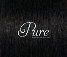 #1B - DARKEST BROWN / NATURAL BLACK - ULTIMATE CLIP-IN - LUXURY RUSSIAN GRADE - Pure Tape Hair Extensions