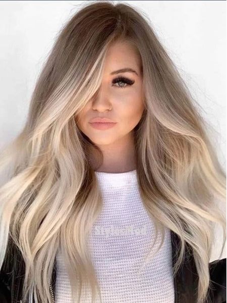 "#8/60 ""GLOW"" LIGHT COOL BROWN TO BLONDE OMBRE / BALAYAGE TAPE-IN HAIR EXTENSIONS - Pure Tape Hair Extensions"