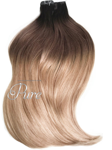 "#2/8/16 Ombre Balayage Luxury Russian Grade Tape Hair Extensions 22"" - Pure Tape Hair Extensions"