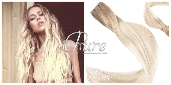 BLONDE ROOT STRETCH BALAYAGE HAIR EXTENSIONS