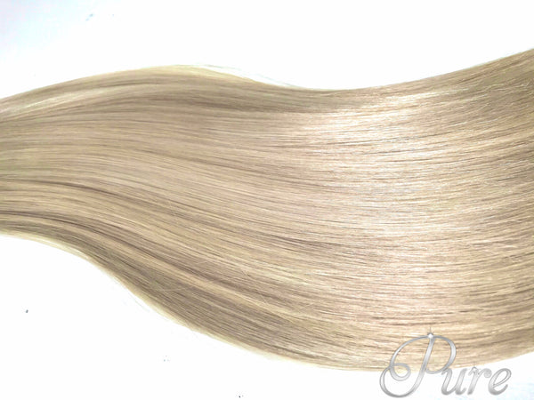 #613/60 platinum blonde golden blonde foiled tape hair extensions