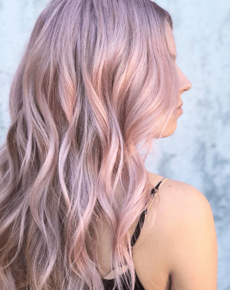 #Bubblegum Blonde - light Pink Invisible Skin Weft Tape-In Hair Extensions - Pure Tape Hair Extensions