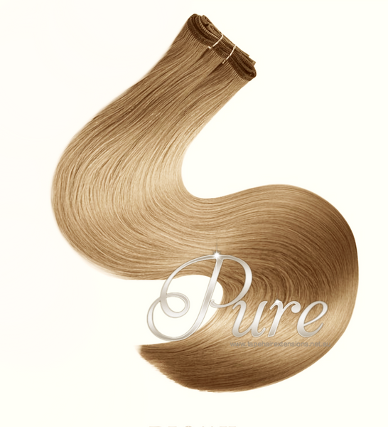 #16 - HONEY BLONDE BLONDE WEFT / WEAVE HAIR EXTENSIONS - Pure Tape Hair Extensions