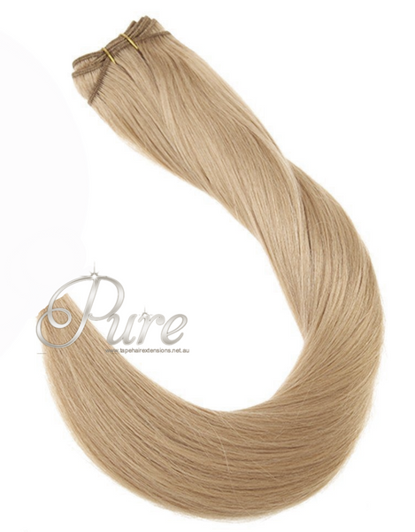 "#22  ""CHAMPAIGN BLONDE""  MEDIUM  WARM BLONDE WEFT / WEAVE - Pure Tape Hair Extensions"