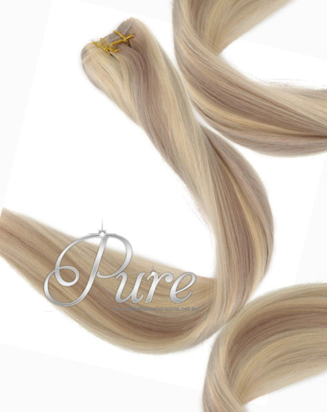 #16/613 CARAMEL HIGHLIGHTED BLONDE WEAVE HAIR EXTENSIONS -