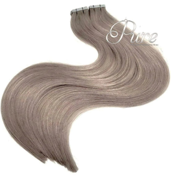 #18 -  SMOKY BLONDE - DARK ASH BLONDE -TAPE HAIR EXTENSIONS - LUXURY RUSSIAN GRADE - Pure Tape Hair Extensions