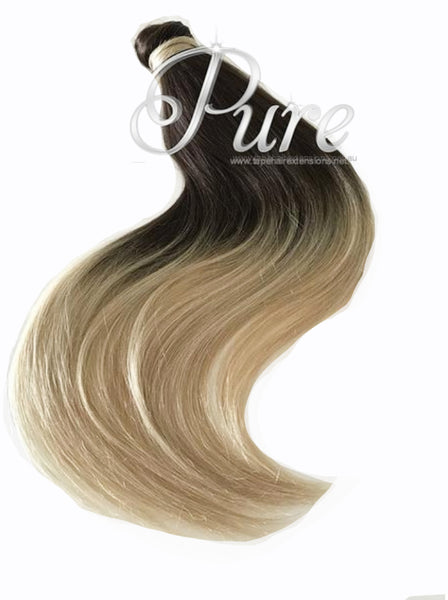 BROWN BALAYAGE HUMAN HAIR PONYTAIL HAIR EXTENSION