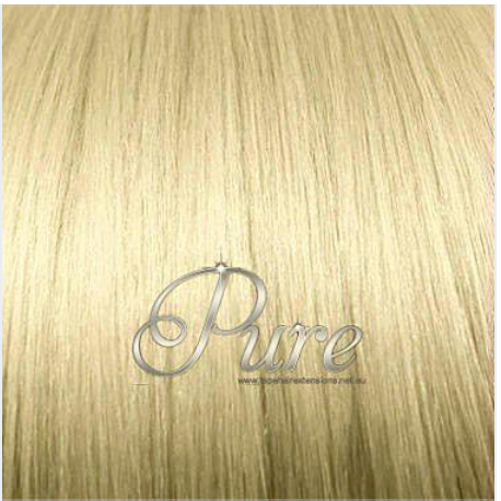 "#22 "" CHAMPAIGN BLONDE"" MEDIUM BLONDE MICRO BEAD HAIR EXTENSIONS - Pure Tape Hair Extensions"