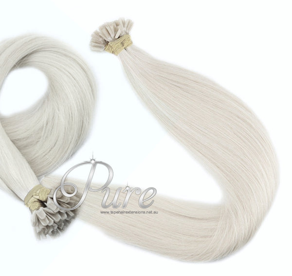 "NAIL-TIP / KERATIN BOND HAIR EXTENSION #CREAMY BLONDE - LIGHT CREAM BLONDE 22"" - Pure Tape Hair Extensions"