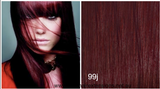 TAPE-IN HAIR EXTENSIONS -  #99j -  DEEP BURGUNDY RED / WINE RED - SEAMLESS LUXURY HAIR - Pure Tape Hair Extensions