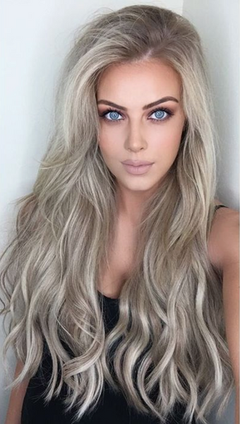 ASH BLONDE ROOT STRETCH TO BLONDE FOILED BALAYAGE TAPE HAIR EXTENSIONS