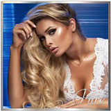 "#4/60/22 "" SUMMER"" MEDIUM BROWN TO PLATINUM & MEDIUM BLONDE ROOT STRETCH TAPE BALAYAGE / OMBRE HAIR EXTENSIONS - Pure Tape Hair Extensions"