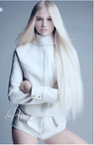 #60 Platinum Blonde - Invisible Luxury Seamless Skin Weft Tape-In Hair Extensions - Pure Tape Hair Extensions