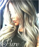 #18/613  - SMOKY BLONDE / LIGHT BLONDE - ASH BLONDE & GOLDEN BLONDE FOILED TAPE HAIR EXTENSIONS - Pure Tape Hair Extensions