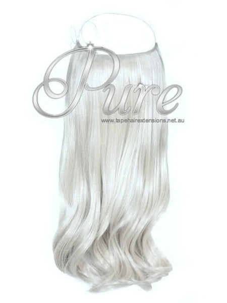 FLIP IN HALO HAIR EXTENSIONS # ICY BLONDE ICY WHITE BLONDE