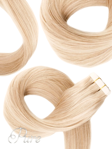 "#24 ""BABY BLONDE"" SOFT WARM BLONDE TAPE HAIR EXTENSIONS"