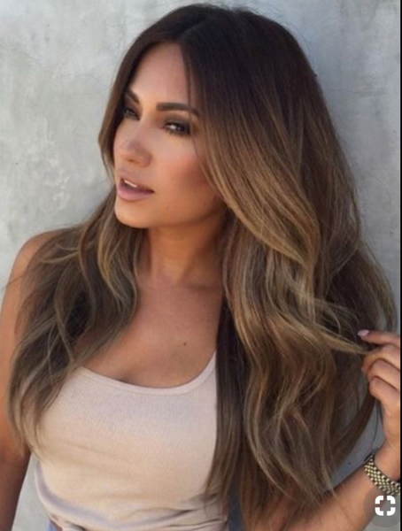 "#4/22/4/10 ""TAHITI"" LIGHT BROWN ROOTS TO MEDIUM BLONDE BALAYAGE OMBRE WEFT - Pure Tape Hair Extensions"