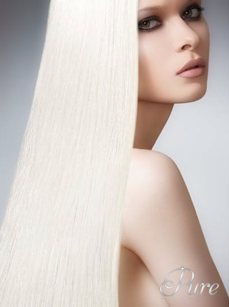 Cream blonde tape hair extensions
