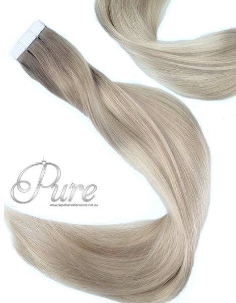"#14/22/613 ""CHANEL"" SHORT ROOT FADE BALAYAGE / OMBRE LUXURY RUSSIAN GRADE TAPE HAIR EXTENSIONS - Pure Tape Hair Extensions"