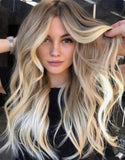 #14/16/60 DARK BLONDE ROOTS TO GOLDEN BLONDE BALAYAGE OMBRE TAPE HAIR EXTENSIONS - Pure Tape Hair Extensions