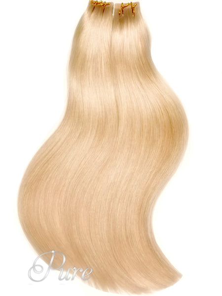 "#22/24 "" HONEYCOMB"" HONEY BLONDE TAPE HAIR EXTENSIONS - Pure Tape Hair Extensions"