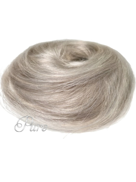 #Icy Blonde Mix - Booster Volume Bun - 100% luxury human hair scrunchie bun - Pure Tape Hair Extensions