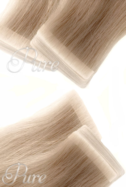 #22 Champaign Blonde - Invisible Luxury Seamless Tape-In Hair Extensions - Pure Tape Hair Extensions