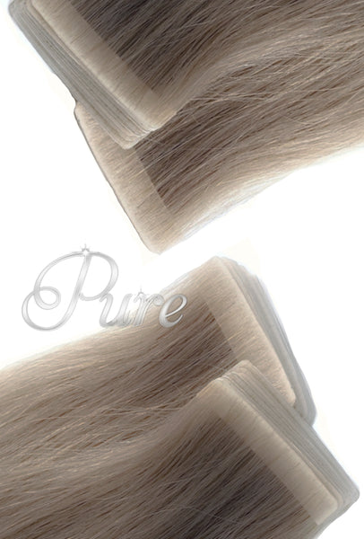 #18 Smoky Blonde - Invisible Luxury Seamless Skin Weft Tape-In Hair Extensions - Pure Tape Hair Extensions