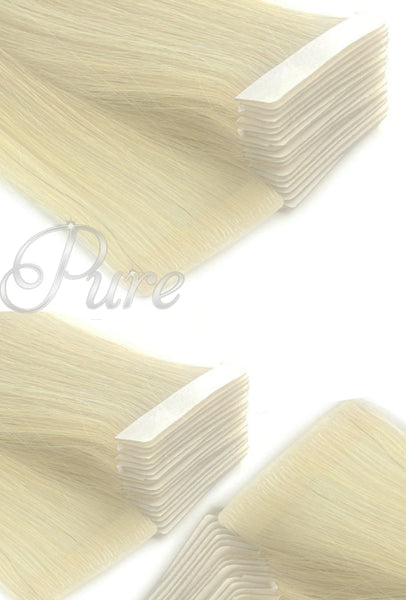 #Vanilla - Golden Blonde - Invisible Luxury Seamless Skin Weft Tape-In Hair Extensions - Pure Tape Hair Extensions