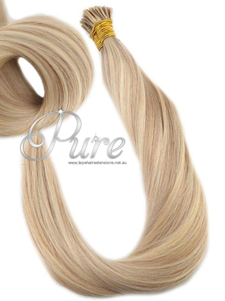 "#22/616 ""PRINCESS BLONDE"" HIGHLIGHTED MICRO  BEAD HAIR EXTENSIONS"