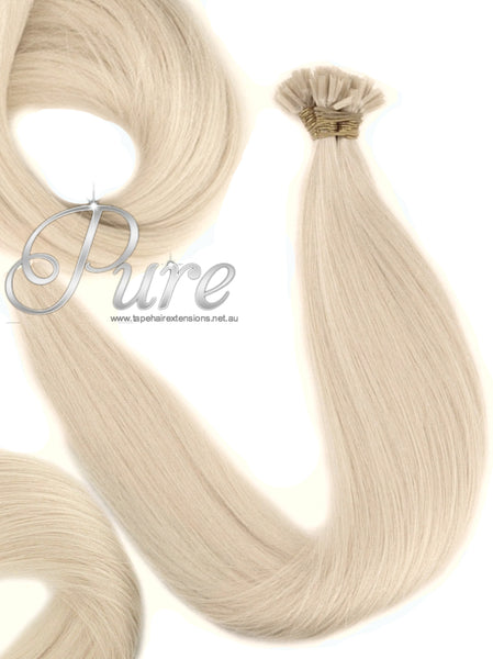 NAIL TIP / KERATIN HAIR EXTENSIONS #613 - GOLDEN BLONDE - LIGHT GOLDEN BLONDE - Pure Tape Hair Extensions