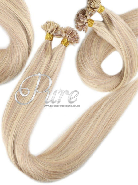 NAIL TIP / KERATIN HAIR EXTENSIONS #22/613 - COOL MEDIUM BLONDE / LIGHT BLONDE - Pure Tape Hair Extensions