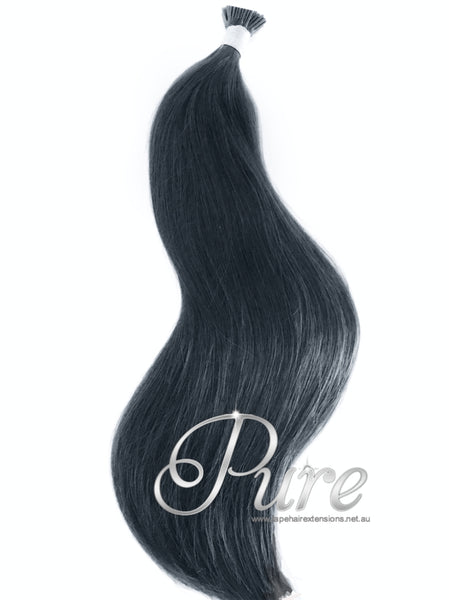 "#1 ""EBONY""JET BLACK MICRO-BEAD HAIR EXTENSIONS"