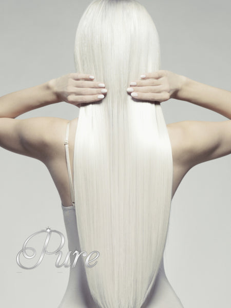 #White Blonde - Invisible Seamless Skin Weft Tape-In Hair Extensions - Pure Tape Hair Extensions