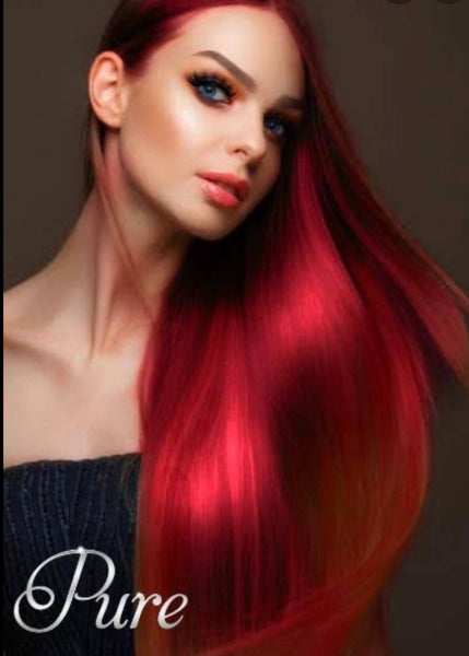 #RUBY RED BRIGHT RED TAPE HAIR EXTENSIONS
