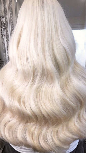 "#613 ""VANILLA BLONDE' LIGHT GOLDEN BLONDE TAPE HAIR EXTENSIONS"