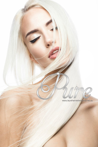#WHITE BLONDE KERATIN BOND HAIR EXTENSION - Pure Tape Hair Extensions
