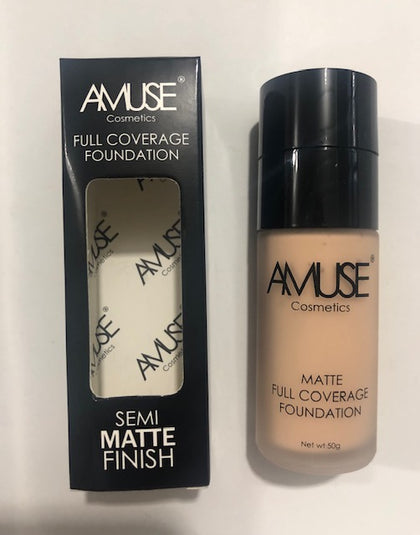 Amuse Cosmetics Full Coverage Foundation Semi Matte Finish