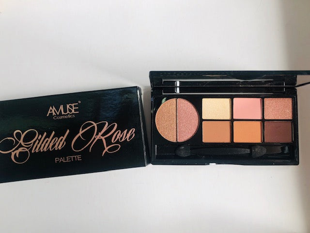 Amuse Cosmetics Sombras Gilded Rose (4 tonos con brillo y 4 tonos mate)