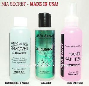 MIA SECRET NAILS GEL CLEANSER 4 OZ or FINISH WIPE