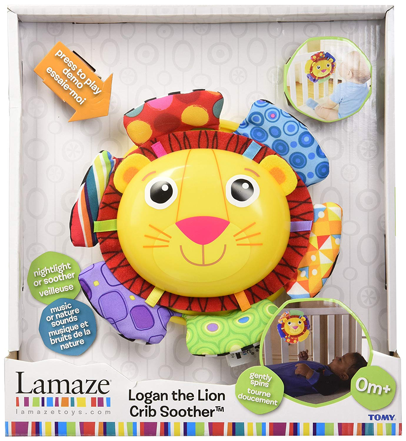 Logan the Lion  Crib Soother  Lazame