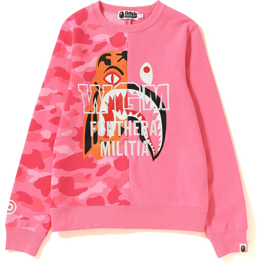 8d134977e381 Bape color camo tiger shark crewneck ladies pink wear stores jpg 1024x1024  Color camo bape crewneck