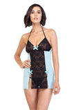 FLIRTY SHEER LACE BABYDOLL SET