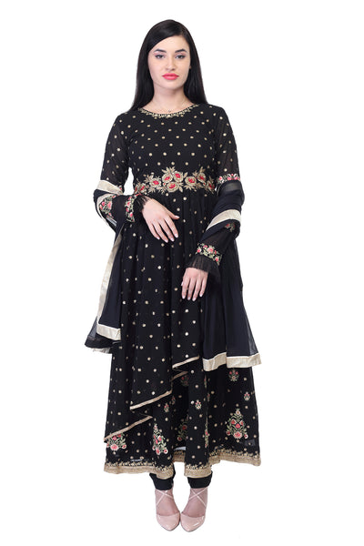 Black georgette Evening Wear Salwar Suit