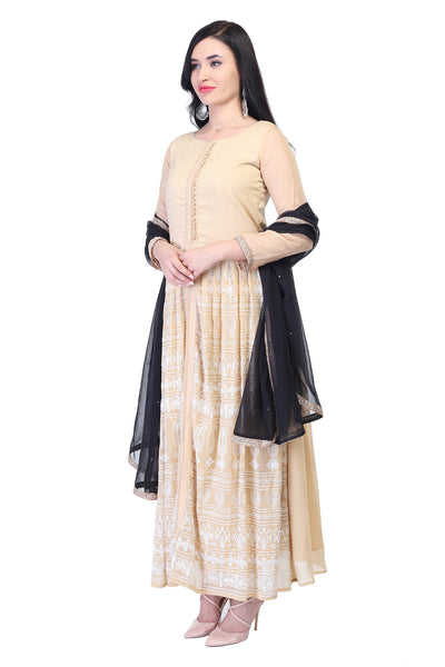 Golden and yellow anarkali